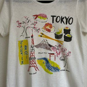 J. Crew Factory Tops - J Crew Collector Tokyo Graphic Tee Size Medium